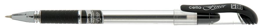 Ручка шариковая Cello Finer 0.3мм резин. манжета черный коробка