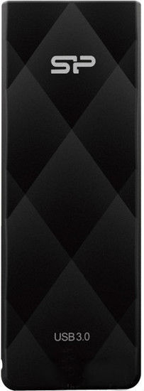 Флешка USB SILICON POWER Blaze B20 128Гб, USB3.0, черный [sp128gbuf3b20v1k]