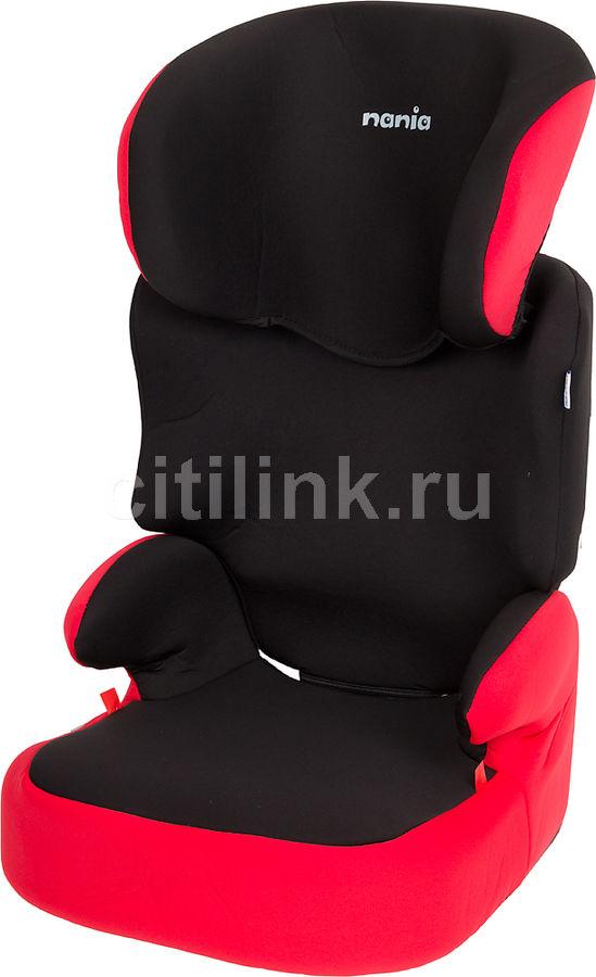 Автокресло детское NANIA Befix SP ECO, 2/3, красный/черный [743080]