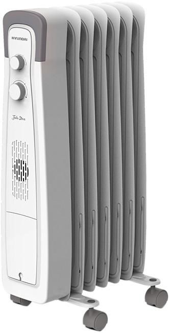 Масляный радиатор HYUNDAI H-HO1-07-UI551, 1500Вт, белый