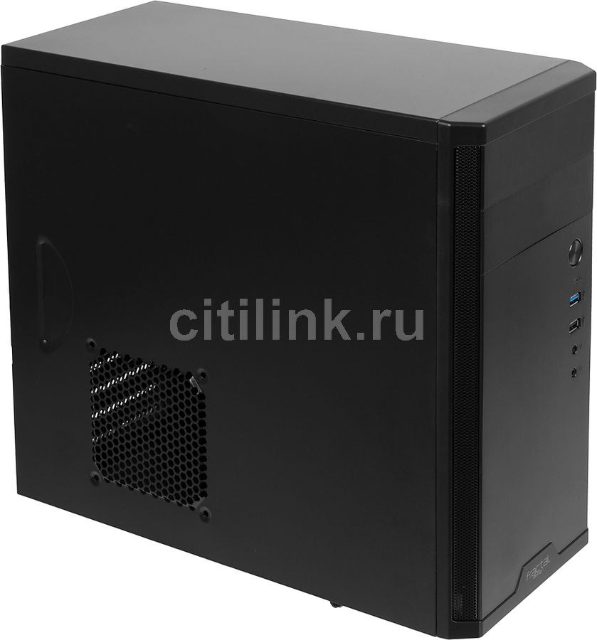 Корпус mATX FRACTAL DESIGN Core 1100, Mini-Tower, без БП, черный
