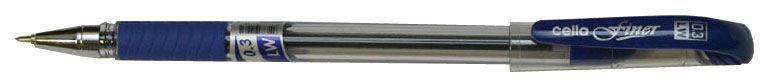 Ручка шариковая Cello Finer 0.3мм резин. манжета синий коробка