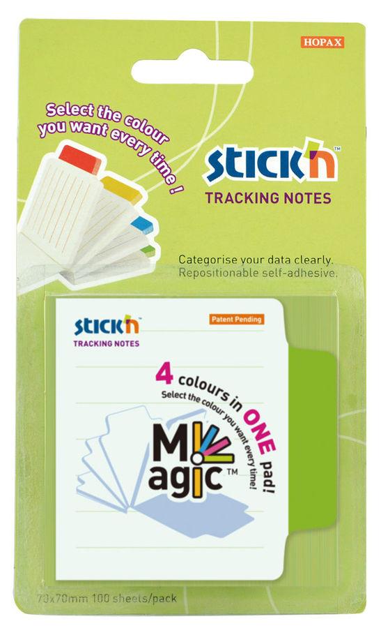 Блок самоклеящийся бумажный Stick`n Magic 21559 70x70мм 100лист. 70г/м2 в линейку вырубной