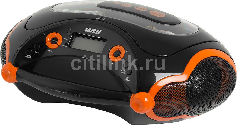 Аудиомагнитола BBK BX316U,  черный и оранжевый