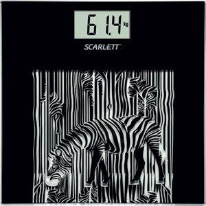 Весы SCARLETT SC-BS33E004, до 150кг, цвет: черный