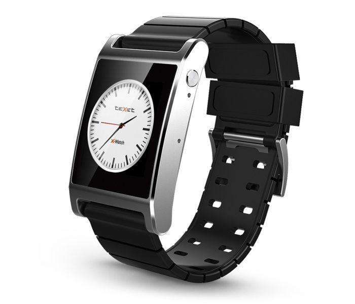 """Смарт-часы TEXET X-Watch TW-300,  1.54"""",  серебристый / черный"""