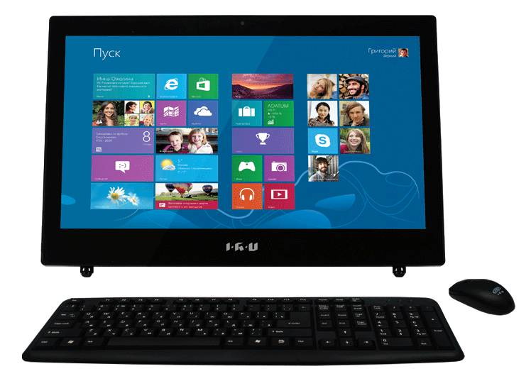 Моноблок IRU L1803 K, Intel Celeron 1037U, 2Гб, 500Гб, Intel HD Graphics, DVD-RW, Windows 8.1, черный [961678]
