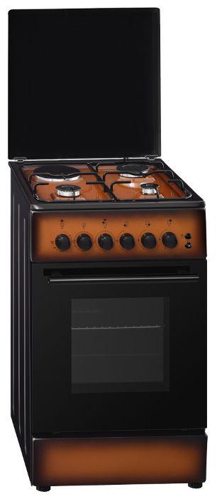Газовая плита SIMFER F 4312 ZERD,  электрическая духовка,  коричневый