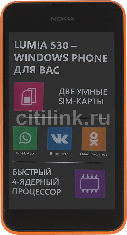 Смартфон NOKIA Lumia 530 Dual Sim оранжевый