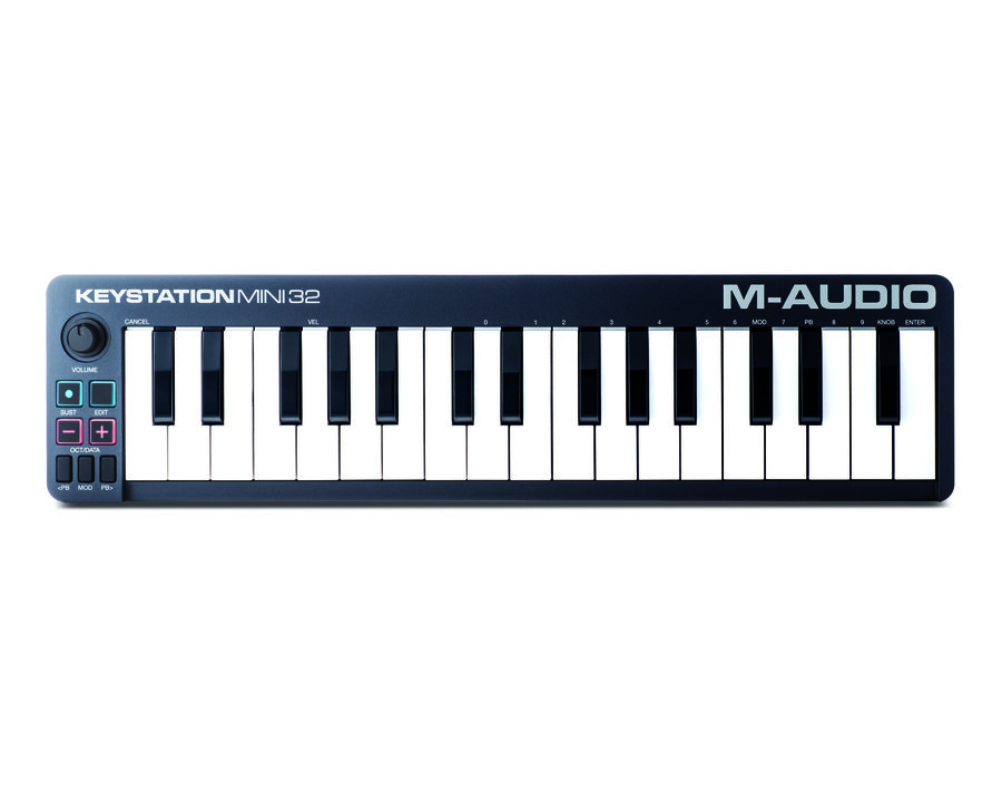 Клавиатура MIDI M-Audio Keystation Mini 32 клав.:32 корпус:пластик темно-синий
