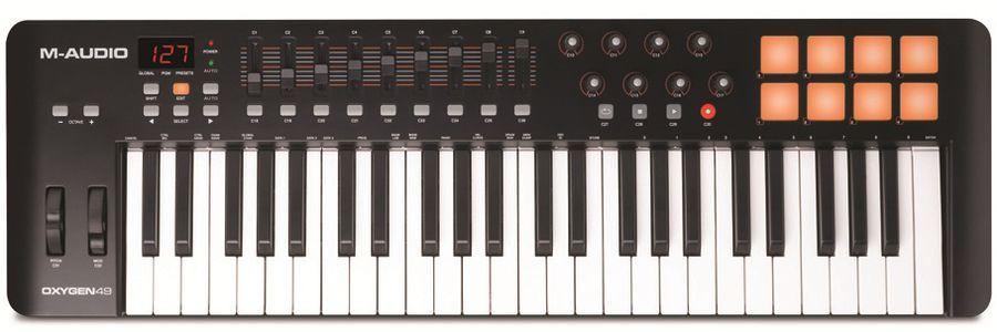 Клавиатура MIDI M-Audio Oxygen 49 II клав.:49 корпус:пластик темно-серый