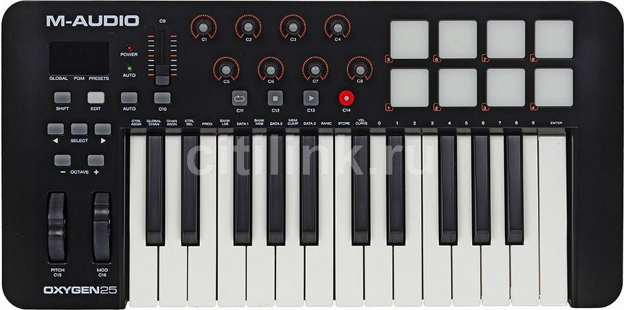 Клавиатура MIDI M-Audio Oxygen 25 II клав.:25 корпус:пластик темно-синий