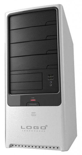 Корпус ATX FOXCONN TLA-882, 500Вт,  черный и серебристый