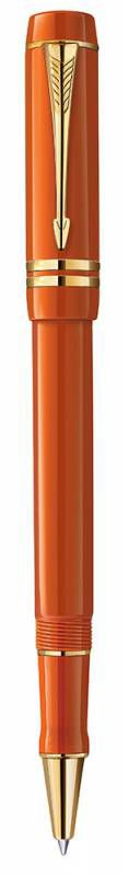 Ручка роллер Parker Duofold T74 Historical Colors (1907193) Big Red GT F черные чернила подар.кор.
