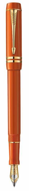 Ручка перьевая Parker Duofold Centennial Historical Colors F77 (1907188) Big Red GT F золото 18K с р