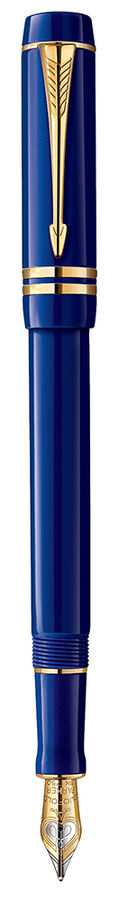 Ручка перьевая Parker Duofold International Historical Colors F74 (1907184) Lapis Lazuli GT F золото