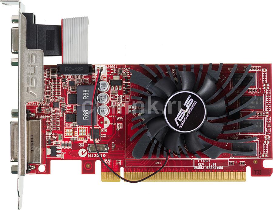 Видеокарта ASUS AMD  Radeon R7 240 ,  R7240-OC-4GD3-L,  4Гб, DDR3, Low Profile,  OC,  Ret