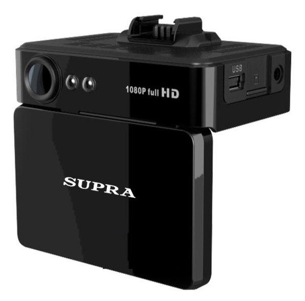 Видеорегистратор SUPRA SCR-888 черный