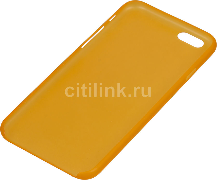 Чехол (клип-кейс) HAMA Ultra Slim, для Apple iPhone 6, оранжевый [00135012]