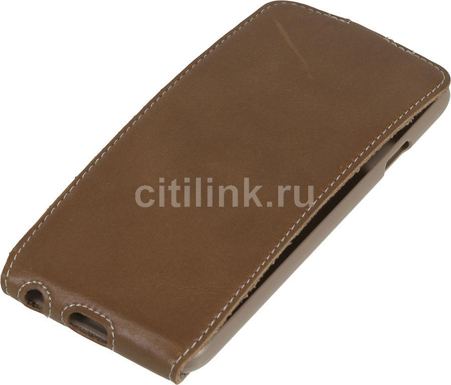 Чехол (флип-кейс) HAMA Guard Case, для Apple iPhone 6, коричневый [00135023]