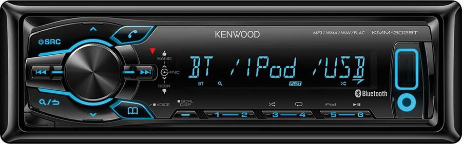 Автомагнитола KENWOOD KMM-302BT,  USB