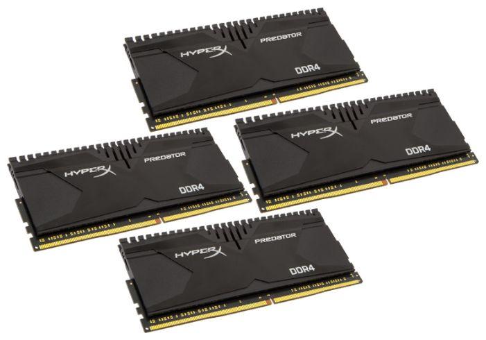 Модуль памяти KINGSTON HyperX Predator HX421C13PBK4/16 DDR4 -  4x 4Гб 2133, DIMM,  Ret