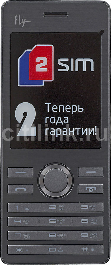 Мобильный телефон FLY DS131  черный