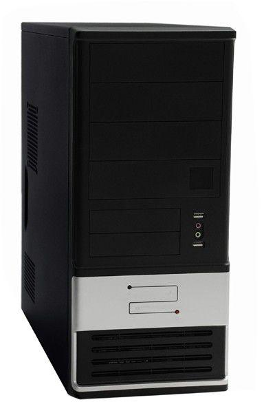 Корпус ATX FOXCONN TSAA-700, 500Вт,  черный и серебристый