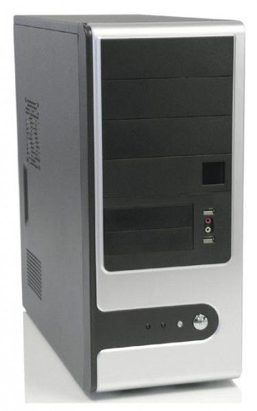 Корпус ATX FOXCONN TSAA-909, 500Вт,  серебристый и черный