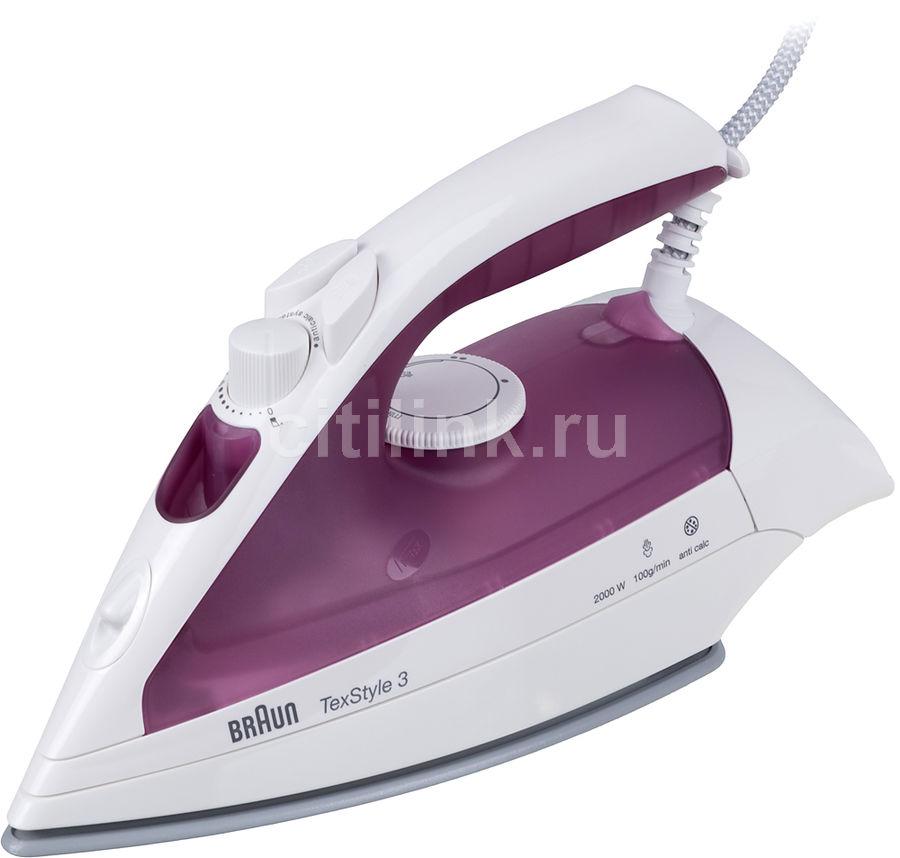 Утюг BRAUN TS320C,  1700Вт,  фиолетовый/ белый [0x12711059]