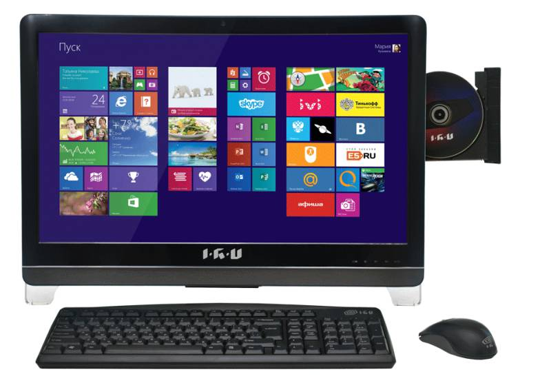 Моноблок IRU 116, Intel Celeron G1620, 2Гб, 500Гб, Intel HD Graphics, DVD-RW, Windows 8.1 Professional, черный