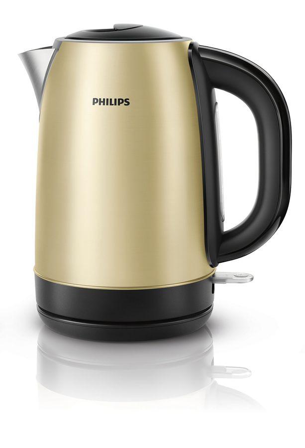 Чайник электрический PHILIPS HD9325/50, 2200Вт, шампанское
