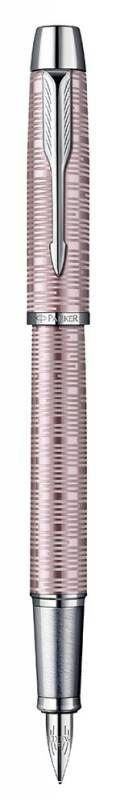 Ручка перьевая Parker IM Premium F224 (1906739) Pink Pearl CT F сталь нержавеющая подар.кор.