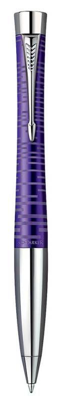 Ручка шариковая Parker Urban Premium K206 (1906862) Amethyst Pearl CT M синие чернила подар.кор.