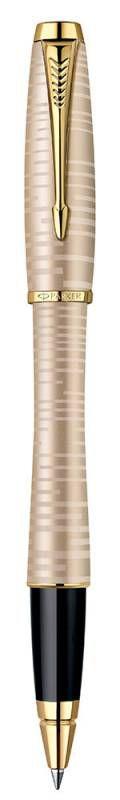 Ручка роллер Parker Urban Premium T206 (1906856) Golden Pearl GT F черные чернила подар.кор.