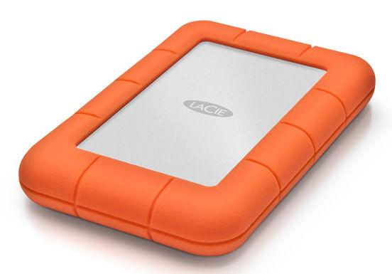 Внешний жесткий диск LACIE Rugged Mini, 2Тб, оранжевый [lac9000298]