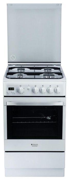 Газовая плита HOTPOINT-ARISTON H5GG5F (X) RU,  газовая духовка,  серебристый