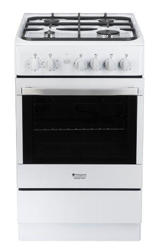 Газовая плита HOTPOINT-ARISTON H5GG1 C (W) RU,  газовая духовка,  белый