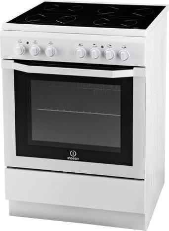 Электрическая плита INDESIT I5V52(W)/RU,  стеклокерамика,  белый