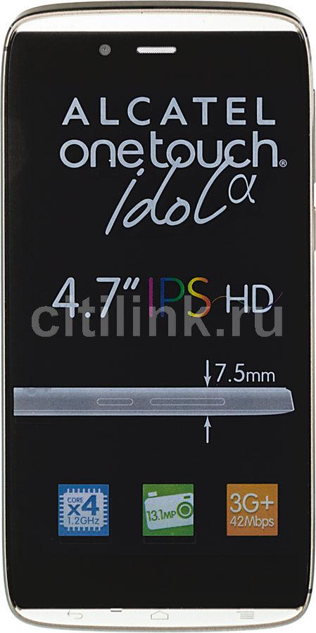Смартфон ALCATEL Idol alpha 6032X  золотистый
