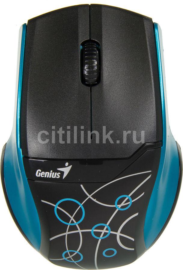 Мышь GENIUS DX-7000X оптическая беспроводная USB, синий и черный [31030028102]