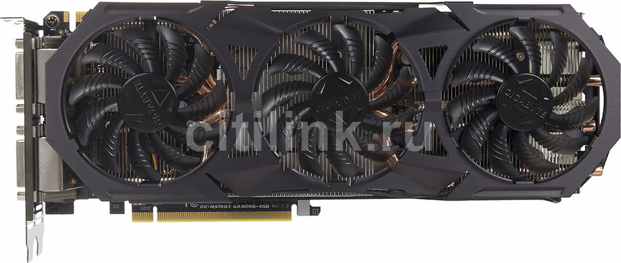 Видеокарта GIGABYTE GeForce GTX 970,  GV-N970G1 GAMING-4GD,  4Гб, GDDR5, OC,  Ret