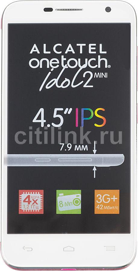 Смартфон ALCATEL Idol 2 Mini 6016X  белый/розовый