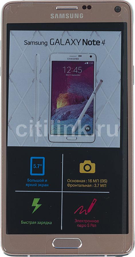 Смартфон SAMSUNG Galaxy Note 4 SM-N910C  золотистый