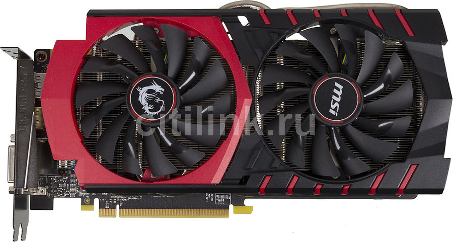 Видеокарта MSI Geforce GTX 970,  GTX 970 GAMING 4G,  4Гб, GDDR5, Ret