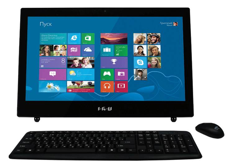 Моноблок IRU 115Bing, Intel Celeron 1037U, 4Гб, 500Гб, Intel HD Graphics, DVD-RW, Windows 8.1, черный [965619]