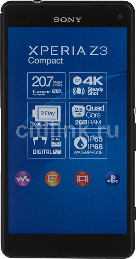 Смартфон SONY Xperia Z3 Compact D5803,  черный