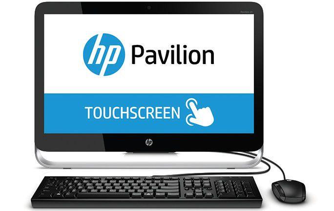 Моноблок HP Pavilion 23-p050nr, Intel Core i3 4150T, 4Гб, 1000Гб, Intel HD Graphics 4400, DVD-RW, Windows 8.1, черный и серебристый [k0r27ea]