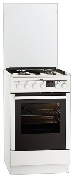 Газовая плита AEG 47645GM-WN,  электрическая духовка,  белый