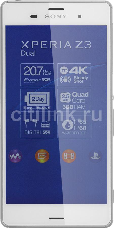 Смартфон SONY Xperia Z3 dual D6633  белый